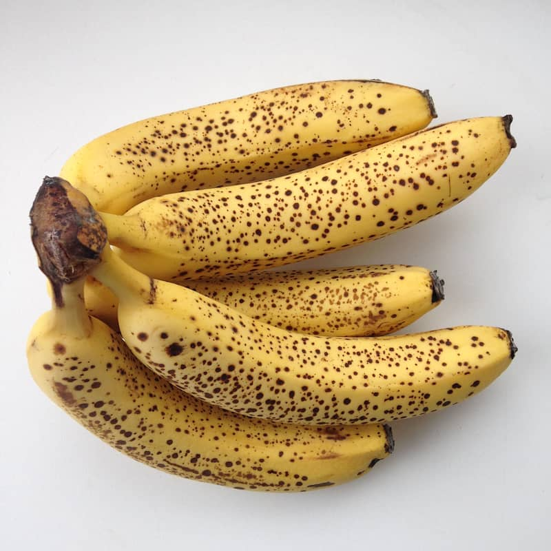 Eat bananas when look like this - brown sugar spots are a sign that starch has converted already into simple sugars